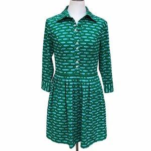 Eshakti fish print green custom dress